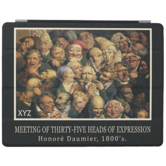 Daumier's Expressions custom monogram covers iPad Cover