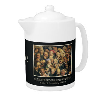 Daumier's Expressions custom teapot