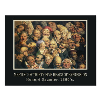 Daumier's Expressions invitation
