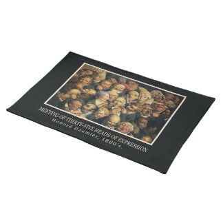 Daumier's Expressions placemats