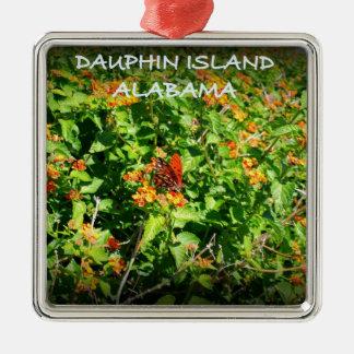 DAUPHIN ISLAND, ALABAMA Silver-Colored SQUARE DECORATION