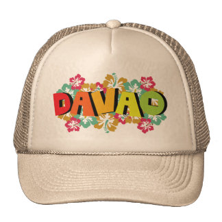 Davao Philippines on Tropical Hibiscus Flowers Cap