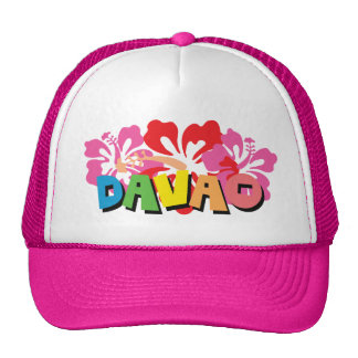 Davao Philippines on Tropical Hibiscus Flowers Cap