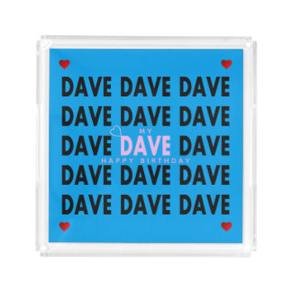 Dave in Pink Acrylic Tray