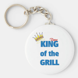 Dave king of the grill key chains