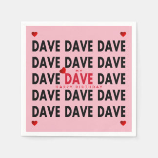 Dave Plus Text Templates Disposable Napkin