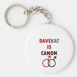 Davekat Is Canon (v1) Basic Round Button Key Ring