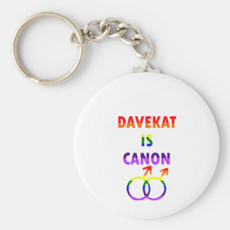 Davekat Is Canon (v2) Basic Round Button Key Ring