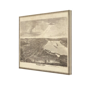Davenport, Iowa, as seen from south west Canvas Print