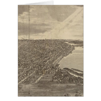 Davenport, Iowa, as seen from south west Card