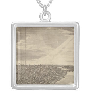 Davenport, Iowa, as seen from south west Silver Plated Necklace