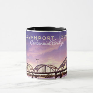 Davenport Iowa Centennial Bridge Coffee Mug