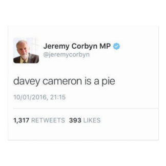 Davey Cameron Is A Pie Postcard