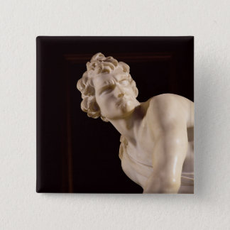 David, 1623-24 (marble) (detail) 15 cm square badge