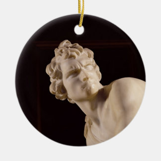 David, 1623-24 (marble) (detail) christmas ornament