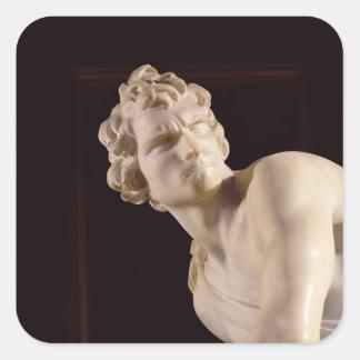 David, 1623-24 (marble) (detail) square sticker