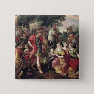 David and Abigail or Alexander 15 Cm Square Badge