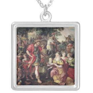 David and Abigail or Alexander Silver Plated Necklace