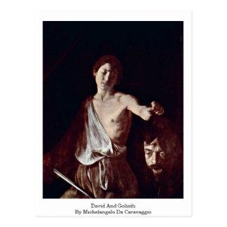 David And Goliath By Michelangelo Da Caravaggio Postcard