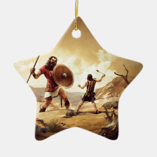 David and Goliath Ceramic Star Decoration