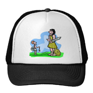 David and Goliath Christian artwork Cap