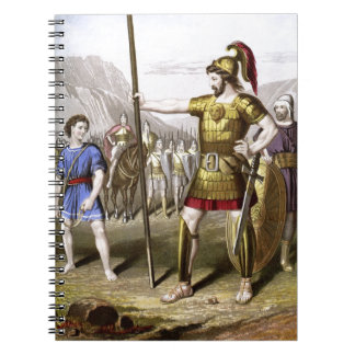 David and Goliath Spiral Notebooks
