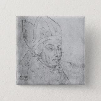 David, bishop of Utrecht 15 Cm Square Badge