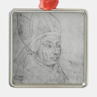 David, bishop of Utrecht Silver-Colored Square Decoration