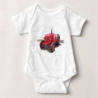 David Brown Tractor Vintage Hiking Duck Baby Bodysuit