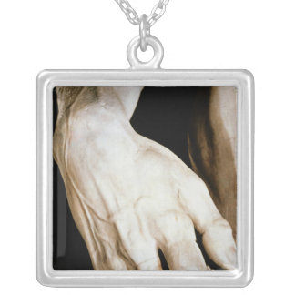 David by Michelangelo Buonarroti , 1501-04 Silver Plated Necklace