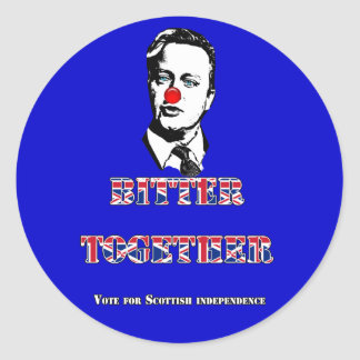 David Cameron Bitter Together Sticker