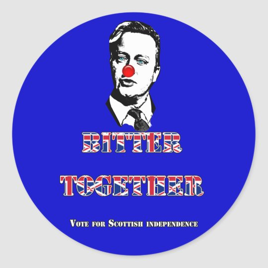 David Cameron Bitter Together Sticker