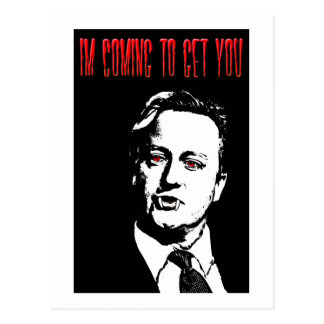 David Cameron Blood Sucker Postcard