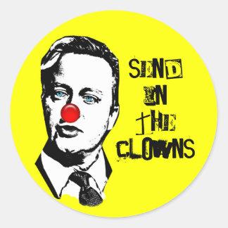 David Cameron Clown Sticker
