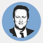 David Cameron Round Stickers