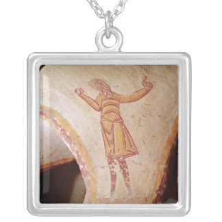 David dancing silver plated necklace