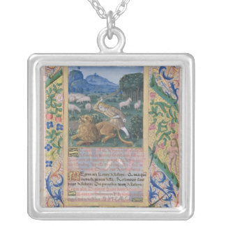 David defending his father's sheep against a silver plated necklace