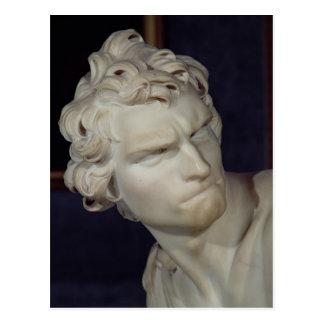 David, detail of the head, 1623-23 postcard
