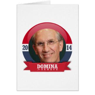 DAVID DOMINA CAMPAIGN GREETING CARD