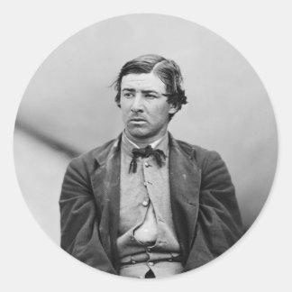 David E. Herold Lincoln Assassination Conspirator Round Stickers