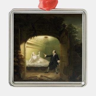 David Garrick  (1717-79) and George Anne Bellamy ( Silver-Colored Square Decoration
