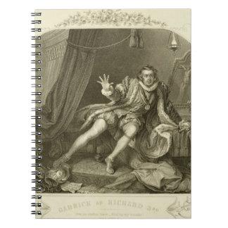 David Garrick (1717-79) as Richard III, Act V Scen Notebook