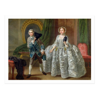 David Garrick and Mrs Pritchard in 'The Suspicious Postcard