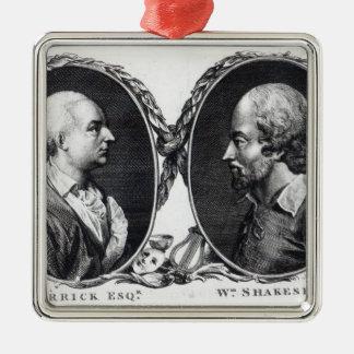 David Garrick and Shakespeare Christmas Ornament