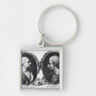 David Garrick and Shakespeare Key Chain