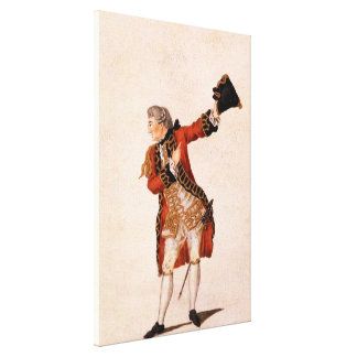 David Garrick as Benedict - Much Ado About Nothing Stretched Canvas Prints