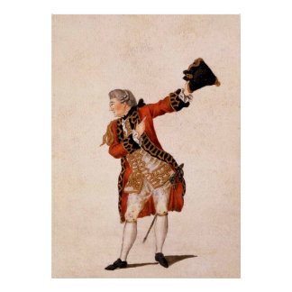 David Garrick as Benedict - Much Ado About Nothing Poster
