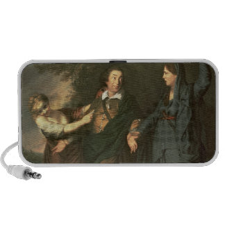David Garrick between the Muses of Tragedy Portable Speaker