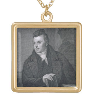 David Hosack, engraved by Asher Brown Durand (1796 Gold Plated Necklace