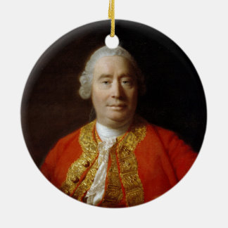 David Hume by Allan Ramsay (1766) Christmas Ornament